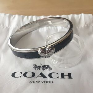 Coach hinged bangle bracelet